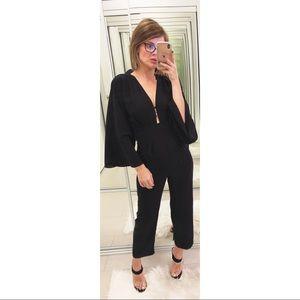 ASOS Black Bell Sleeve Jumpsuit